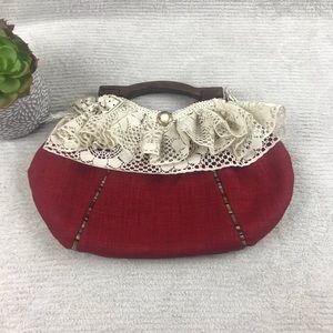 1154 Lill Studio Bags - 🌺 11554 Lill Studio Boutique Handbag - Lace Wood